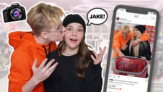 Recreating Famous YOUTUBE COUPLES Photo Challenge w/ MY CRUSH **WE KISSED**💋  Piper Rockelle