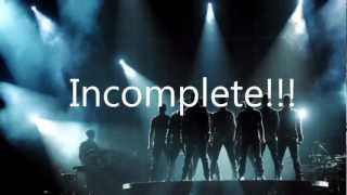 Backstreet Boys Incomplete lyrics HD