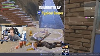 TYPICAL GAMER KILLS NINJA in Fortnite Battle Royale!!