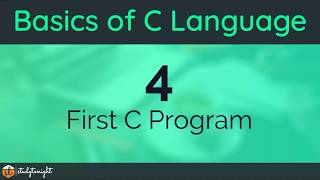 Writing your First C Program and Running it - C Programming Tutorial for Beginners width=