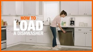 A video showing how to load a dishwasher for maximum cleaning.