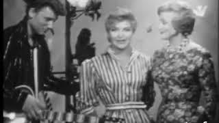La première télé de Johnny Hallyday en 1960 avec Line Renaud