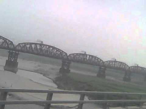 Hardinge Bridge From Lalon Shah Bridge over Padma river