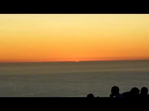 Sunset from the top of Table Mountain