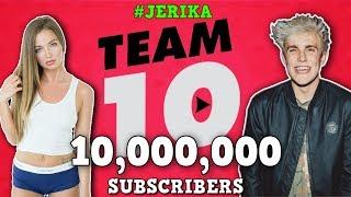 TEAM 10 LIVE SUBSCRIBERS COUNT - Jake Paul 10 Million, Logan Paul, Erika Costell, Tessa, Chanthony