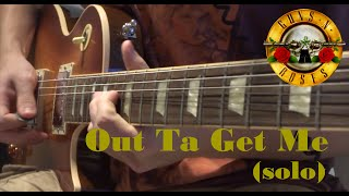 Guns N' Roses - Out Ta Get Me (guitar solo cover) [HD]
