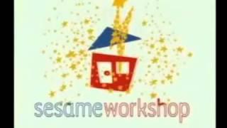 Sesame Workshop Logo (red house, blue roof variant)