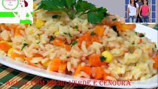Como Fazer Arroz Com Cenoura e Milho Verde Delicioso