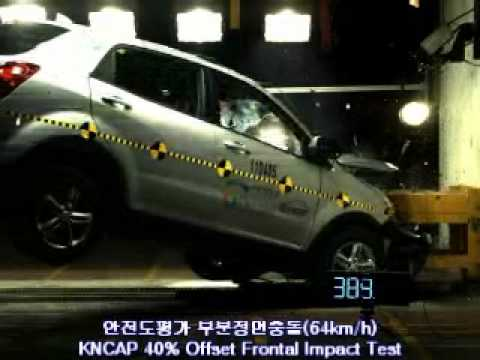 SSANGYONG_KORANDO C OFFSET IMPACT TEST by KNCAP