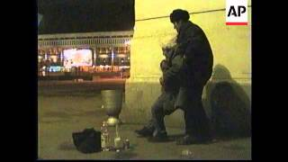 RUSSIA: MOSCOW: TRAIN STATIONS BECOME MAGNET FOR HOMELESS PEOPLE