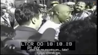 Tupac sendo entrevistado sobre caso de estupro