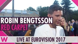 Robin Bengtsson (Sweden) Interview @ Eurovision 2017 Opening Ceremony Red Carpet