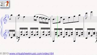 Nicolo Paganini's Duet No. 1, first movement sheet music for violin and guitar - Video Score