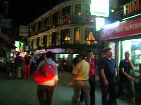 Nepal-Kathmandu downtown' Thamel' night life.wmv