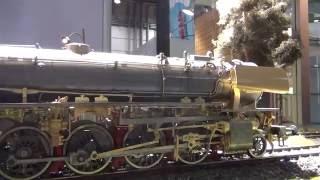 Model parní lokomotivy - veletrh Lipsko 2016
