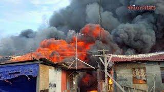 More than 1,500 left homeless in Tawau water village blaze
