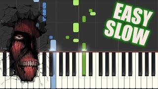 Guren no Yumiya OP - Shingeki no Kyojin [Piano Slow Easy Tutorial](Synthesia) 進撃の巨人OP紅蓮の弓矢【ピアノゆっくり】
