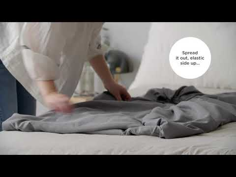 A video on folding fitted sheets