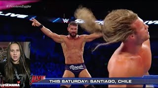 WWE Smacdown 10/17/17 Dolph vs Bobby Roode