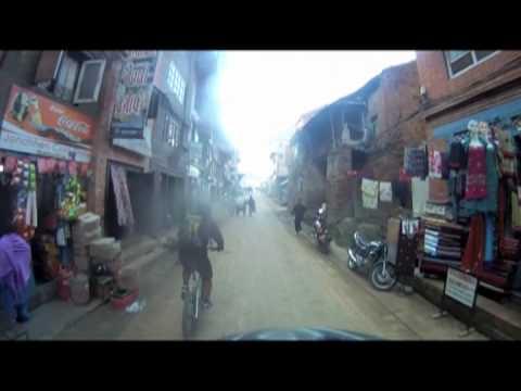 Riding into Bhaktapur City