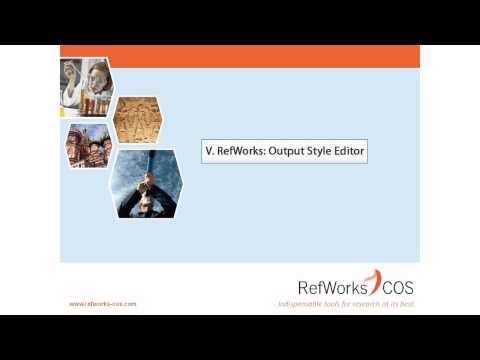 5.0 RefWorks Output Style Editor