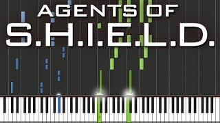 Marvel's Agents of S.H.I.E.L.D. - Main Theme | Piano Tutorial