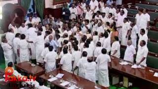 M.K.Stalin carried out of Assembly - Live Video