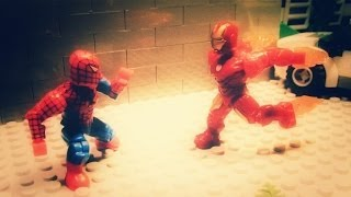 """Mega Bloks"" Spiderman vs Iron Man 3"