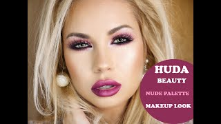 Huda Beauty Nude Palette Full Face Makeup Tutorial | Miki Makeup