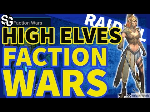[RAID SHADOW LEGENDS] HIGH ELVES - FACTION WARS