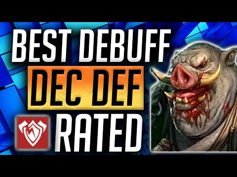 RAID: Shadow Legends | AOE Decrease Def Champs Rated! Most important Debuff in Raid Shadow Legends!
