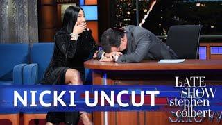 UNCUT: The Nicki Minaj Interview With Stephen Colbert width=
