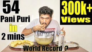 Pani Puri World Record (india) | Gol Gappa/pani puri challenge | Food Challenge India (Episode-07)