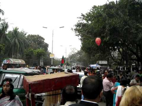 walking around Dhaka