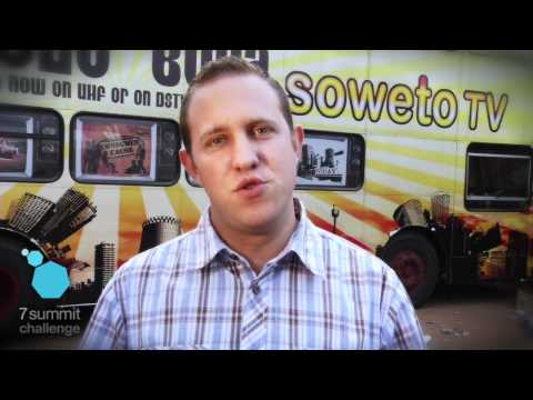 7summitchallenge interview with Soweto TV in South Africa