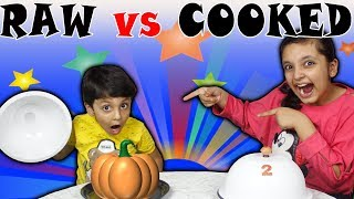 RAW vs COOKED CHALLENGE | #Kids #Funny #Bloopers | Good Habits | Aayu and Pihu Show