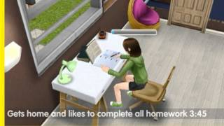 SimsFreeplay- Preteen daily routine