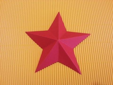Come Costruire Una Stella Di Natale.Come Fare Una Stella Di Natale Con Il Cartoncino Fai Da Te Mania