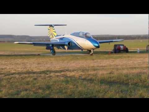 Aero L-29 Delfín Taxiing on grass, Kharkov, Ukraine