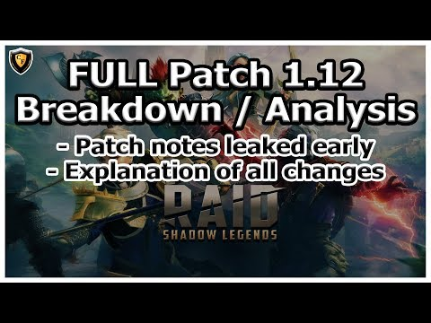 RAID Shadow Legends | FULL Patch 1.12 Breakdown / Analysis
