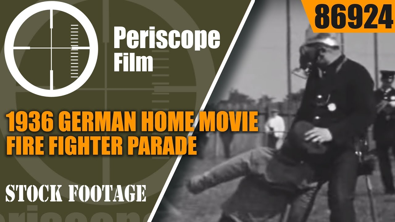 1936 GERMAN HOME MOVIE   FIRE FIGHTER PARADE, RALLY & CONTESt  86924
