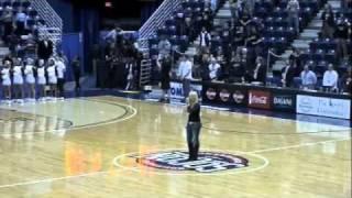 Rachel Holder Singing the National Anthem at SoCon Championship 2011