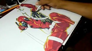 Drawing Deadpool Playmat