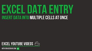 Excel Data Entry Tricks: Insert Data into Multiple Cells at Once in Excel