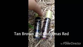 Skin Genie Stain Alive Christmas Red and Tan Brown