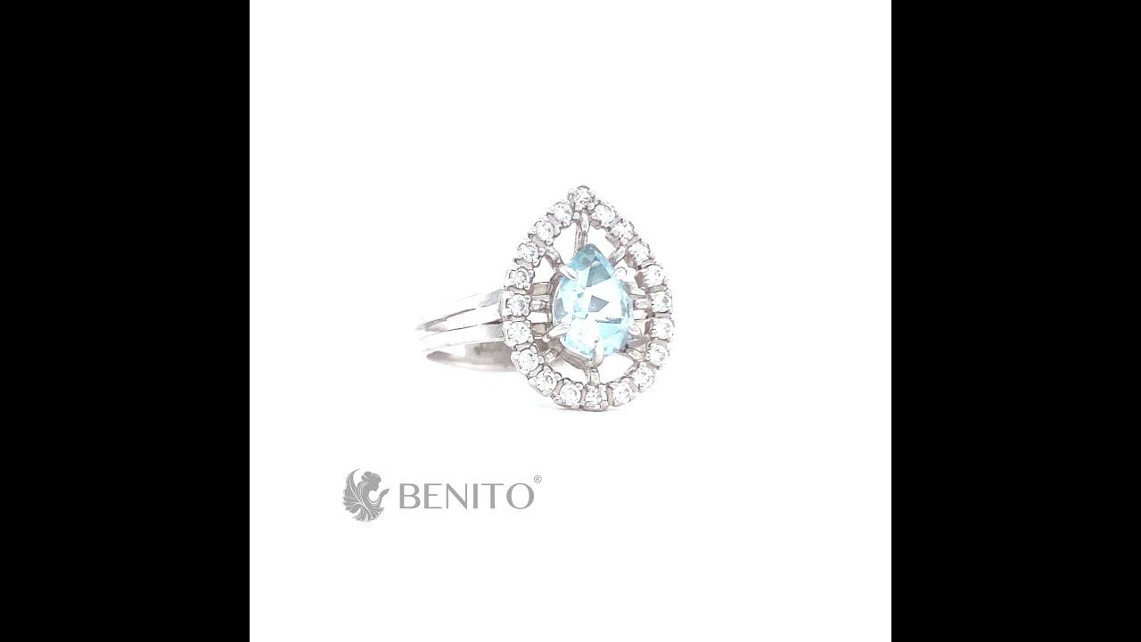 Lolita Ring Blue Topaz Stone