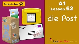 Learn German | A1 - Lesson 62 | Die Post | The post office