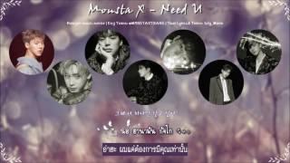 [Karaoke/Thaisub] MONSTA X - Need U (니가 필요해) | July_Moon