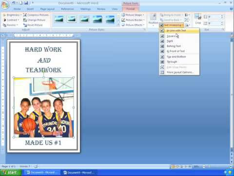 Word 2007 Tutorial 18 - Making A Simple Poster