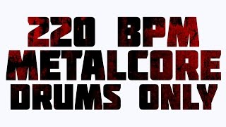 metal drums only / 180bpm / drum backing track cover